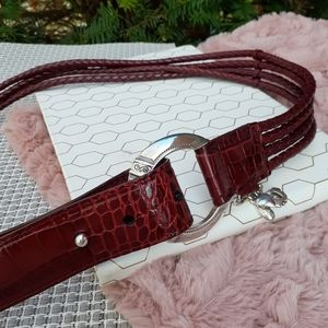 Brighton Braided Charm Leather Belt Christmas Gift